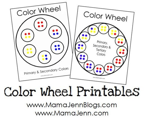 Color Wheel Printables