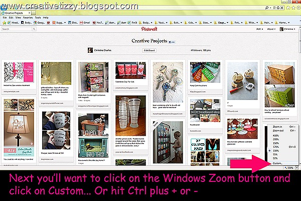 Pinterest Zoom Percentage