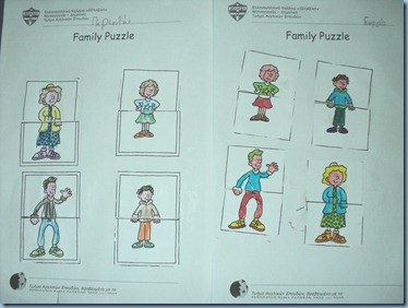 Family Puzzle by 1st graders