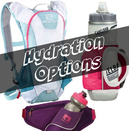 Options for carrying water on the run - pro and con of each