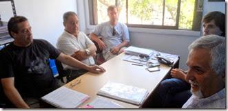 Miembros de la comisión directiva del Aeroclub del Partido de La Costa mantuvieron un encuentro con autoridades municipales