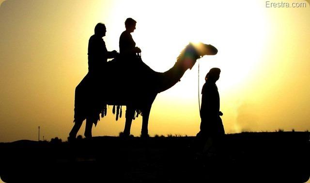 en dat tegen de ondergaande zon in de woestijn, wat wil je nog meer
