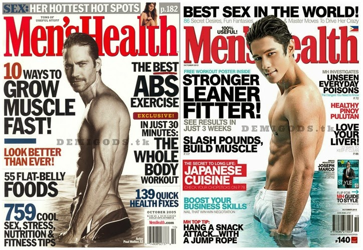 Joseph Marco Paul Walker Men's Health cover
