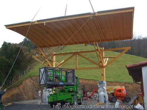Marquesina madera gasolinera (5)