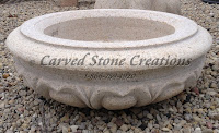 Carved Granite Planter, H14 x D38