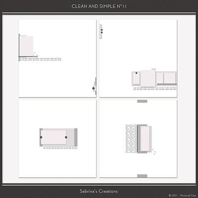 Clean and Simple n°11 Sabrina's Creations