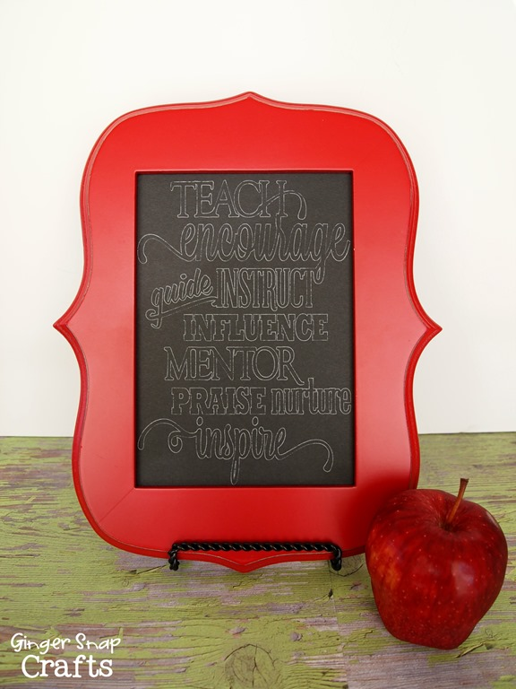 Silhouette teacher gift idea
