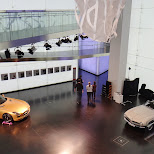 bmw museum interior in Munich, Bayern, Germany