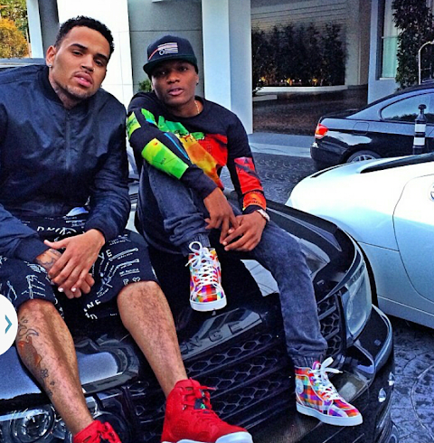 Wizkid still hanging out with Hollywood celebrities