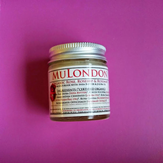 Mu London Organic Rose. Rosehip & Rosemary Moisturiser.