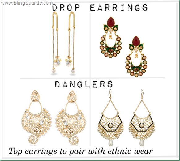 Drop earrings, flipkart