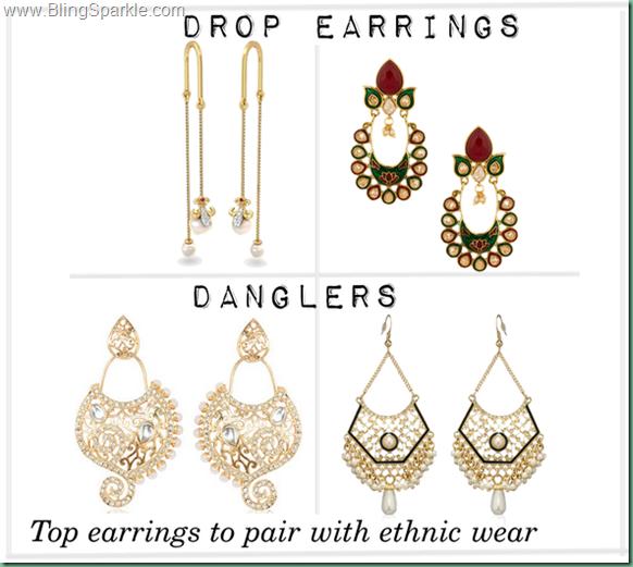 Drop earrings, flipkart