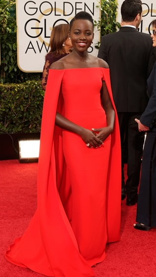 Nails at the Golden Globes - Lupita Nyong'o wearing Deborah Lippmann