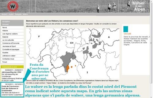 walser festa da Convivenza octobre 2011