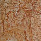 """""""Vue des Anges"""" sur un texte de Rainer Maria Rilke      eau forte tirage numéroté sur 5              70€"""
