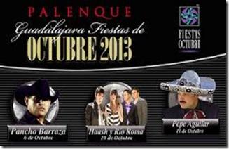 boletos palenque fiestas de octubre 2013 en guadalajara cartelera
