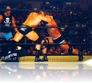 Lesnar & Goldberg locking horns