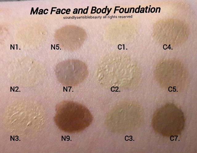 Mac Face and Body Foundation Review & Swatches of Shades