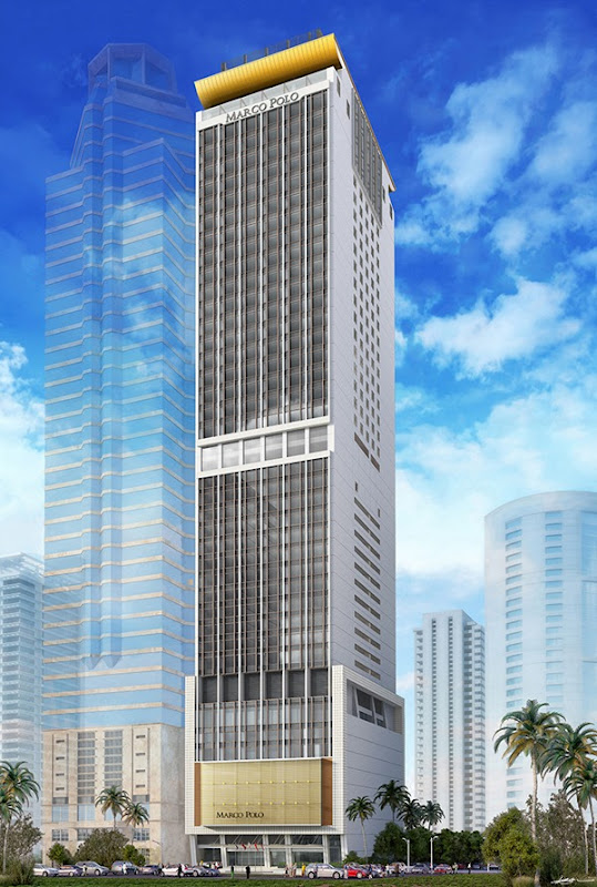 Marco Polo Ortigas Manila_Full Exterior Front_Rendering