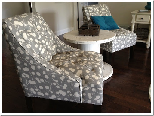 I May Have Had To Let Go Of The Dream Of All White Chairs, But The Tufts  Were A Must Have For Me. I Love Tufted Furniture Right Now.