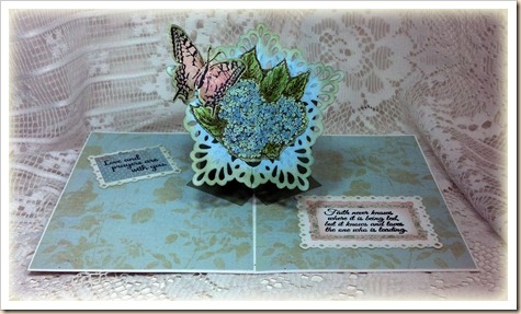 Sharing Your Sorrow, Flowering Faith, Hydrangea, 2 Step Butterfly
