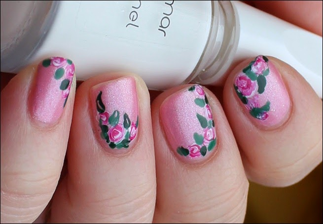 00 Roses in Bloom Nail Art Rosen Blüten Rosa 5