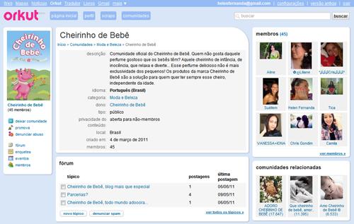 orkut Cheirinho de Bebê