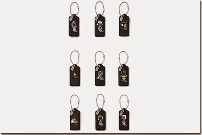 Peanuts X Coach black keytag