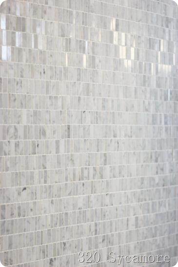 daltile carrara white random mosaic