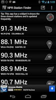 Screenshot of NPR Station Finder