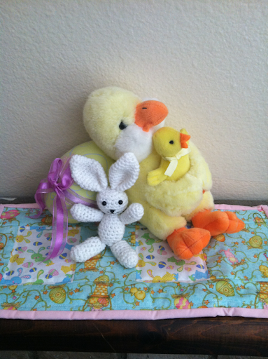 Chicks and bunny