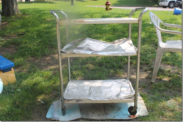 estate sale kitchen cart bottle redo friday 033