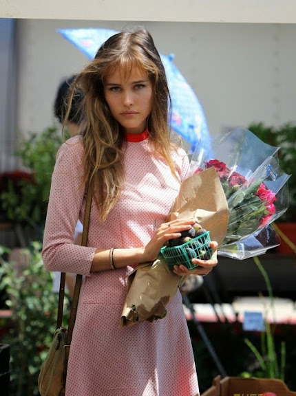 Hollywood, CA - Isabel Lucas heads to the farmers market this afternoon with a girlfriend in Hollywood, wearing a cute polka dot dress and sandals.  The Australian actress purchased some pretty flowers to brighten up her home and picked out some fresh produce and snacks for the extended Labor Day weekend.  Isabel showed her appreciation for a live guitarist during her trip, giving him a $10 bill for his efforts.</p><br /><br /><br /><br /> <p>GSI Media    September 5, 2010</p><br /><br /><br /><br /> <p>To License These Photos, Please Contact :</p><br /><br /><br /><br /> <p>Steve Ginsburg<br /><br /><br /><br /><br /> (310) 505-8447<br /><br /><br /><br /><br /> (323) 4239397<br /><br /><br /><br /><br /> steve@ginsburgspalyinc.com<br /><br /><br /><br /><br /> sales@ginsburgspalyinc.com</p><br /><br /><br /><br /> <p>or</p><br /><br /><br /><br /> <p>Keith Stockwell<br /><br /><br /><br /><br /> (310) 261-8649<br /><br /><br /><br /><br /> (323) 325-8055<br /><br /><br /><br /><br /> keith@ginsburgspalyinc.com<br /><br /><br /><br /><br /> ginsburgspalyinc@gmail.com