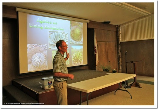 Greg Starr's agave presentation at the Sacramento Cactus & Succulent Society on 6/23/14