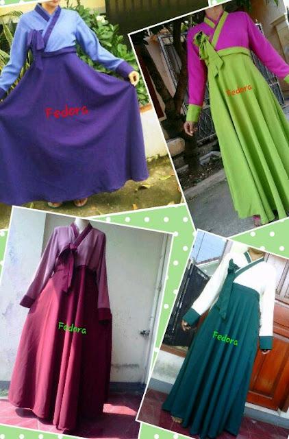 Fedora Gamis Syar'i: Hanbok Style
