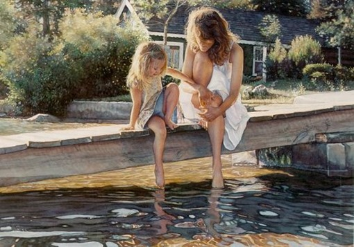 Steve Hanks, Touching the Surface, акварель