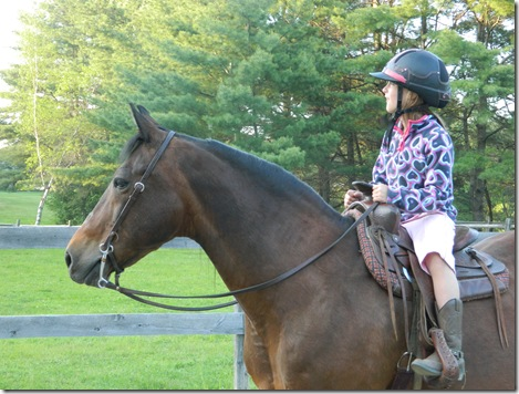 Katy and Taylor riding Lil' Bud 2011 062