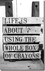 life is about crayons google image