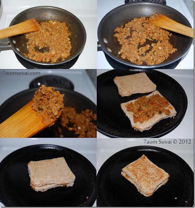 Soya keema sandwich process