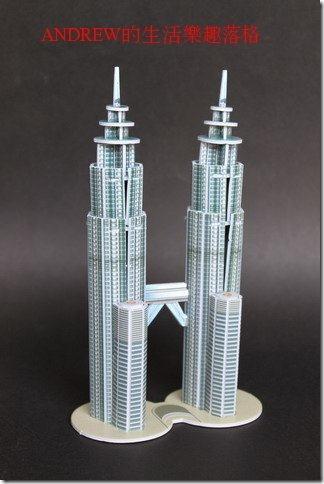 雙子星大樓 地標模型