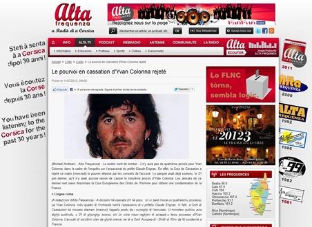 Yvan Colonna AltaFrequenza 110712