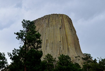 a little bit of light on Devils Tower