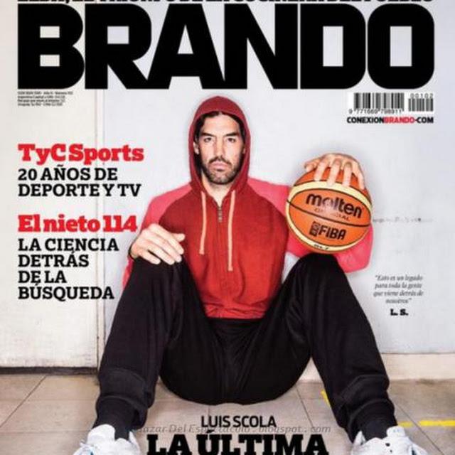 Luis scola en revista brando septiembre 2014 tapa y for Revistas del espectaculo