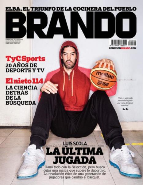 Luis Scola En Revista Brando Septiembre 2014 Tapa Y