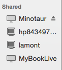 Shared devices showing miinotaur