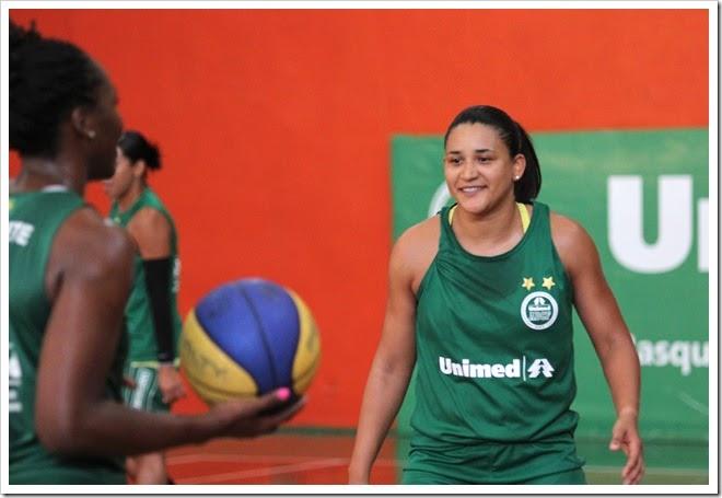 Palmira durante treinamento no Centro Cívico - Foto ADCF Unimed