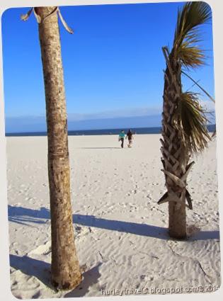 Beautiful sand beach in Gulf Shores, Alabama.