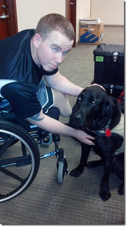 2012-11-Tyler & his service dog.
