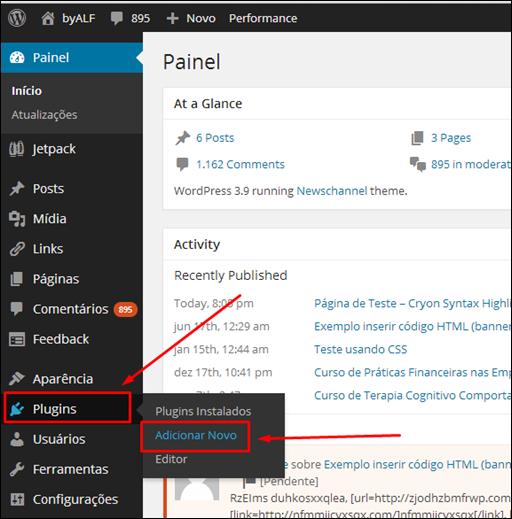 Plugin Syntax Highlighter para o WordPress - Visual Dicas