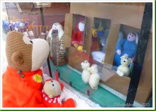 Knitted Nativity Motorworld Bilbrook christmas window